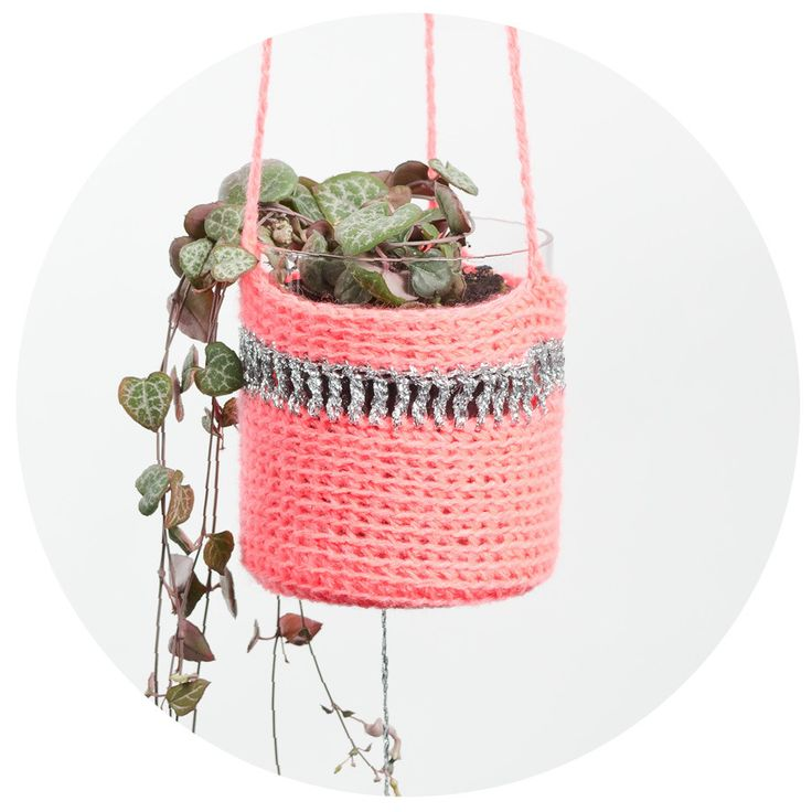 Crochet Planter: Plants Hangers, Crochet Planters, Shops Baskets, Plants Holders, Crochet Jackets, Planters Pink, Peaches, Diy, Crochet Inspiration