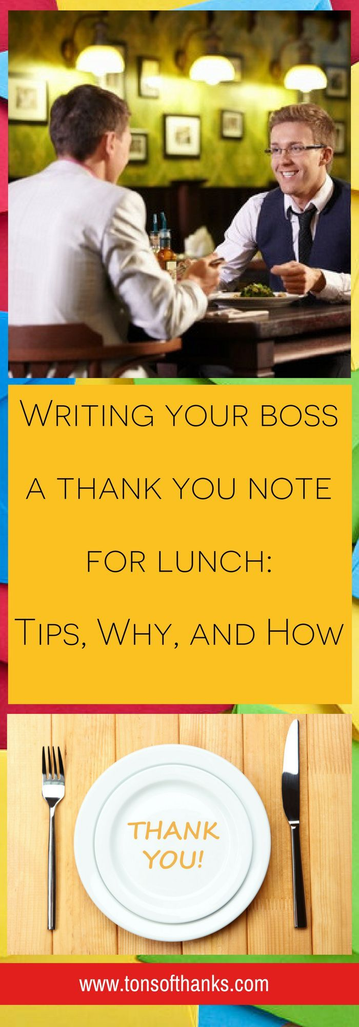 Writing your boss a thank you note
