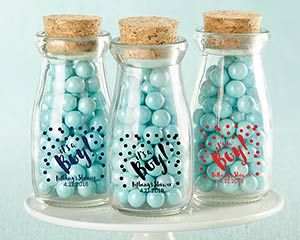 Personalized It's a Boy! Printed Milk Jar (Set of 12) | My Wedding Favors