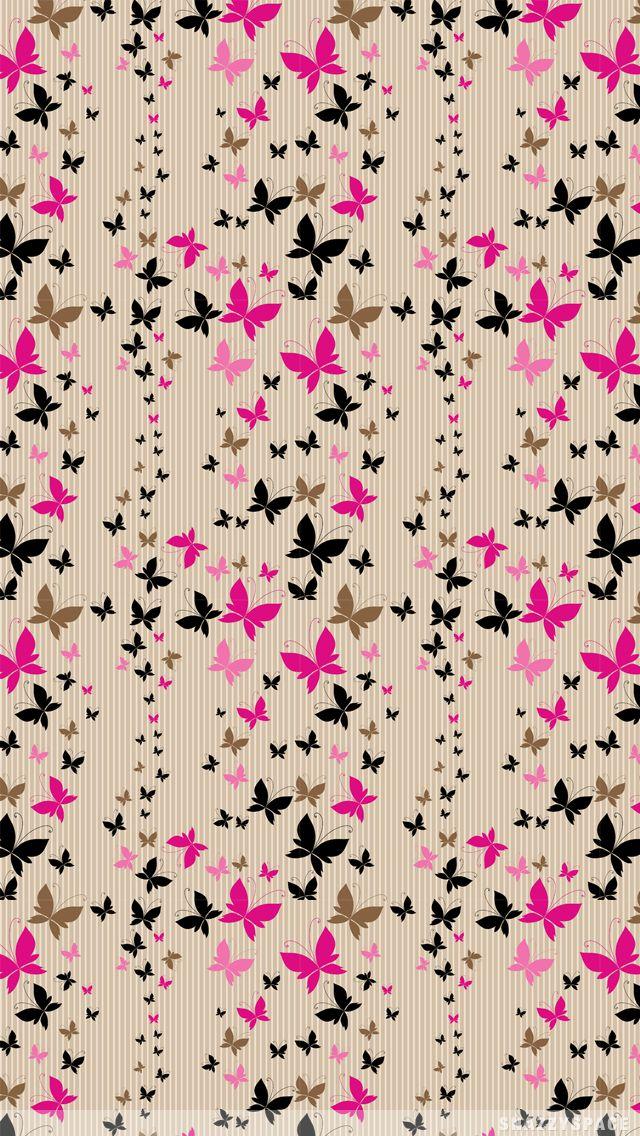 SnazzySpace: Butterfly Stripes iPhone Wallpaper.