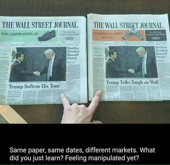 Propaganda, folks! ..and the media wonders why they've lost all credibility.  The brainwashing of America is wearing off.