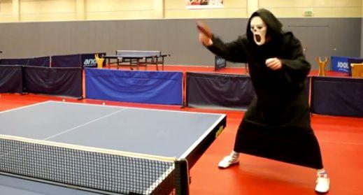 Scream costume mask ping pong
