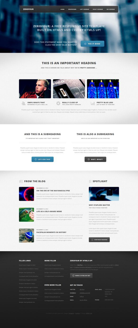 ZeroFour - Free HTML5 Template
