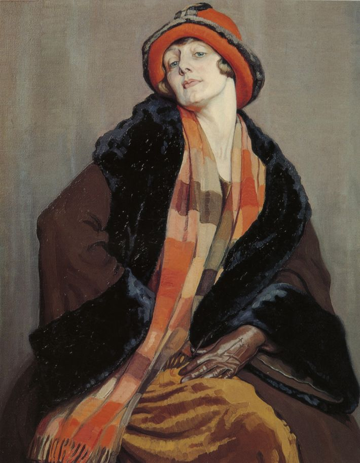 "Emily Hilda Rix Nicholas (Australian, 1884-1961) - ""Une Australienne"" (An Australian Lady), 1926"