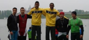 Canoístas Erlon e Ronilson conquistam duas medalhas de ouro na Itália em preparação para as Olimpíadas de 2012 www.timebrasil.com.br