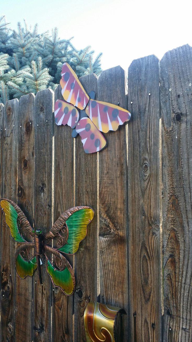 Diy Butterfly Fan Blades Repurposed Into Garden Art