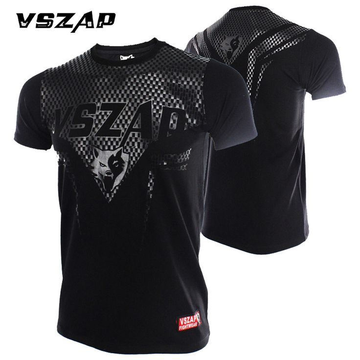 New Boxing Jerseys MMA Shirt VSZAP Sharp Short Sleeve T-shirt Combat Arts Fitness Clothes Wulin Wind Movement Muscle Muay Thai