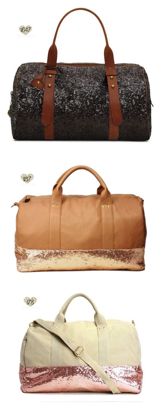 seqiuin carryall / carry-on #travel - Kate Spade Westward Runaway + Deux Lux Ipanema and Felix Weekender #Duffle #Duffel