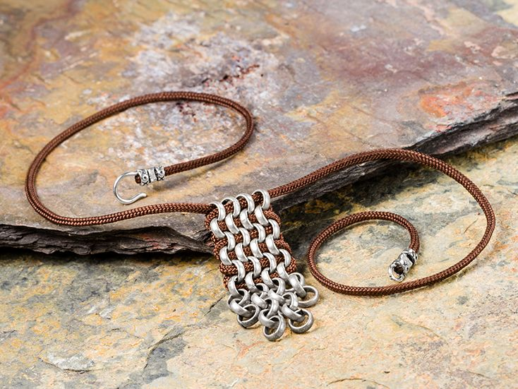 Chain Male Necklace - okay liking this idea too...   Switch out the cord for leather and add some bling to the bottom and I can see this on a lady too.