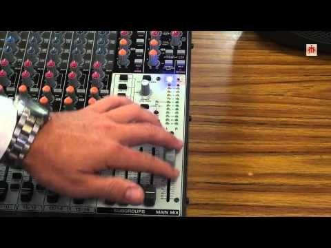 ▶ MESAS DE MEZCLAS DE AUDIO Mesa XENYX 2442FX y Micro inalámbrico Shure PGX4 - YouTube