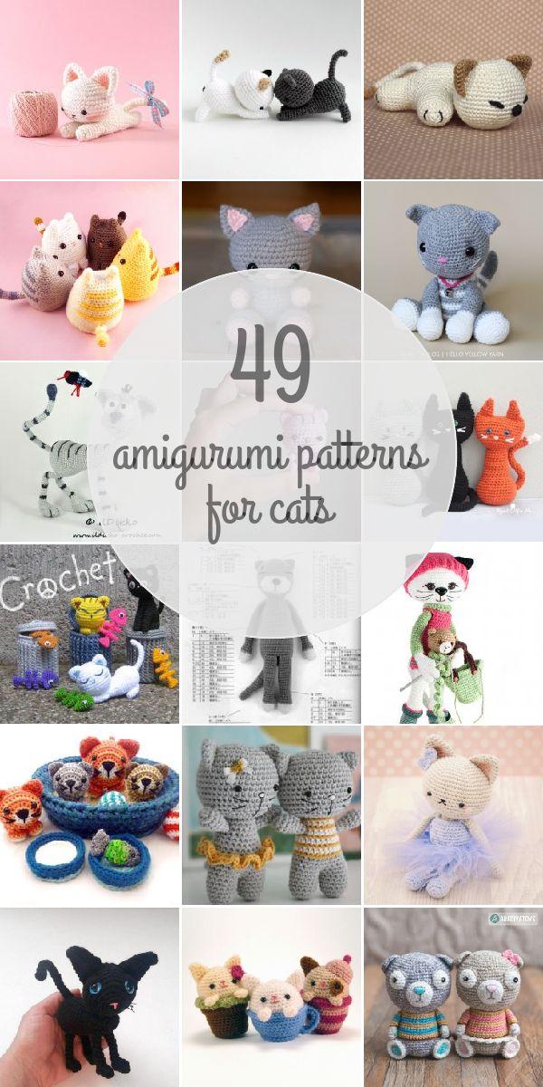 Mejores 87 imágenes de AMIGURUMIS Gatos en Pinterest | Animales de ...