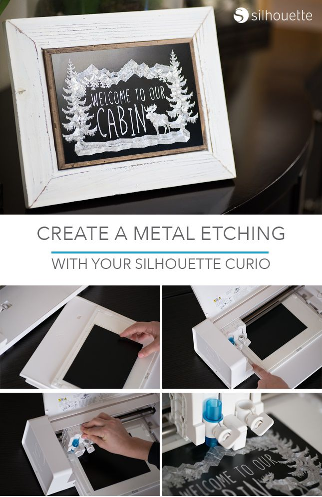 Creating Custom Metal Etchings With Your Silhouette Curio™