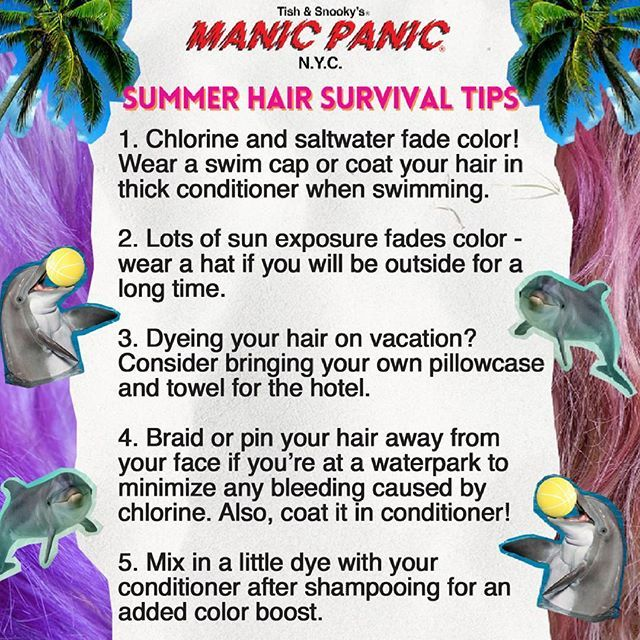 How to maintain your dyed locks this summer 👱 [creds Manic Panic]