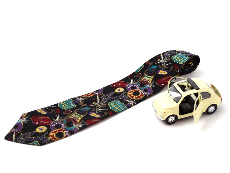 Vintage Men's Tie – Linea Uno Tie – Vintage Silk Tie – Italian Tie – Ray Charles – Hit the Road tie – Men's Gift – Vintage Men's fasion