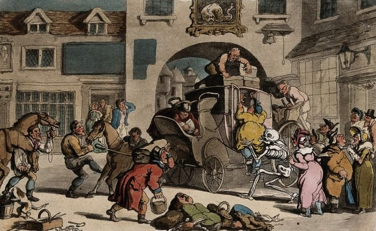 The dance of death: the last stage by T. Rowlandson, 1816. The Wellcome Library, CC BY