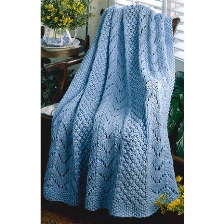 Free Knitting pattern for a fan afghan. Quick to knit afghan patterns and easy to knit free afghan knitting patterns.