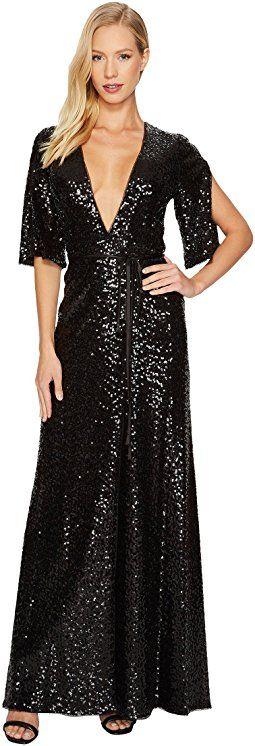 Aidan Mattox - Sequin Wrap Gown