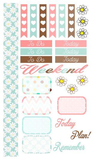 Daisy sticker kit