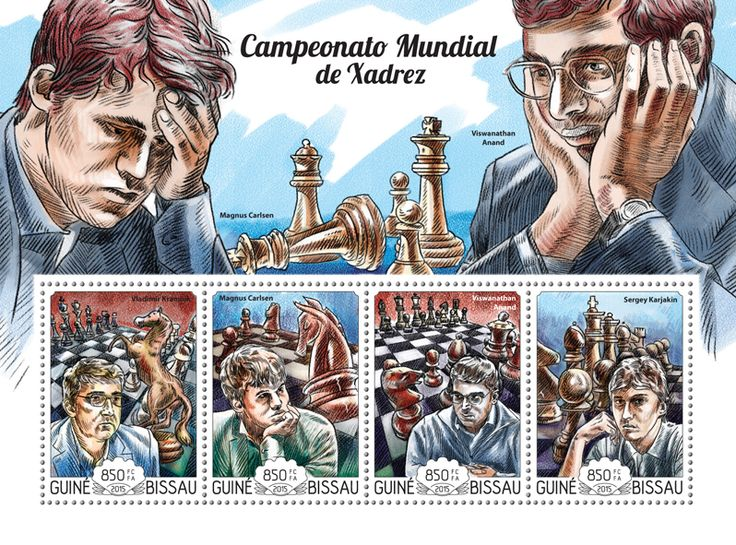 Post stamp Guinea-Bissau GB 15122 a	World Chess Championship (Vladimir Kramnik, {…}, Sergey Karjakin)