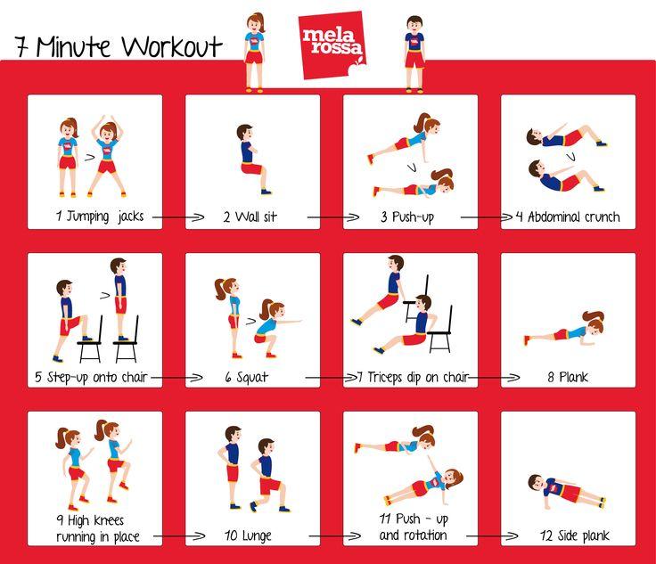12 esercizi in 7 minuti per tonificarti!