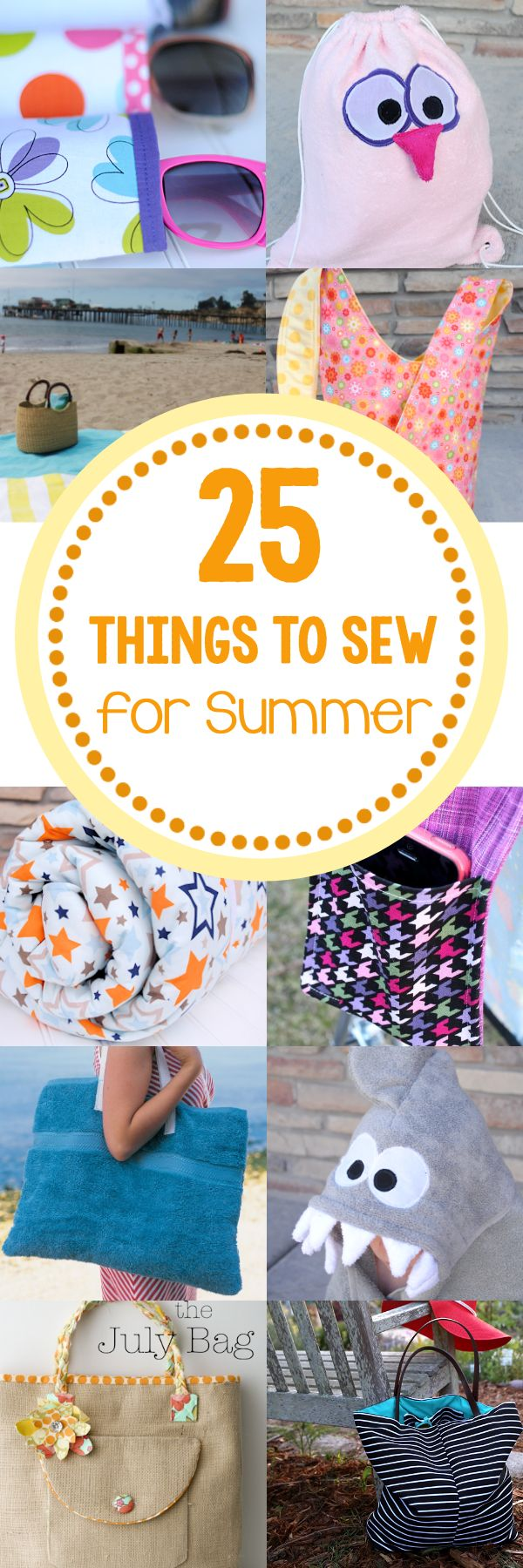 25 Things to Sew for Summer (oliver and s bucket hat pattern link)