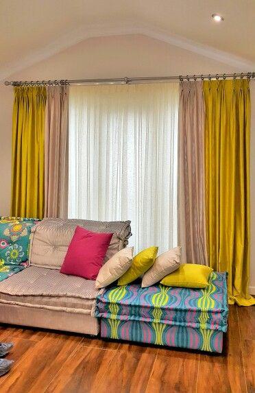 Rustik bohemian curtain  baho zebrano amerikan pile #essaperde #bohemian #puzzle…
