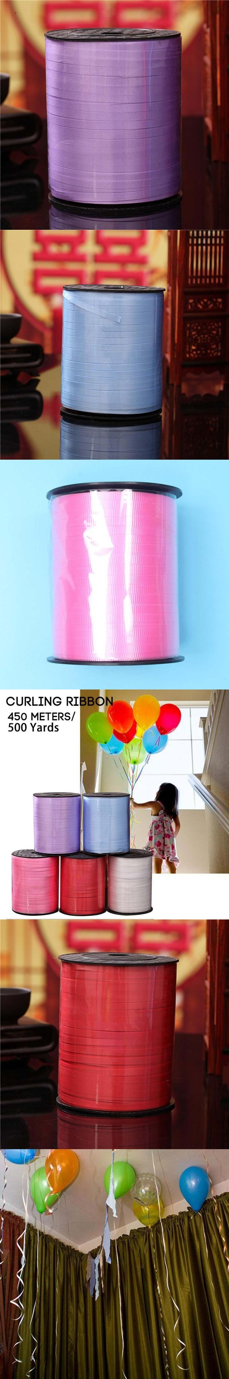 1Roll 500Yards Balloon Ribbon Roll Diy Roll Crafts Foil Curling Wedding Birthday Party Gift/Flower Bouquet/Cards Decorations #0