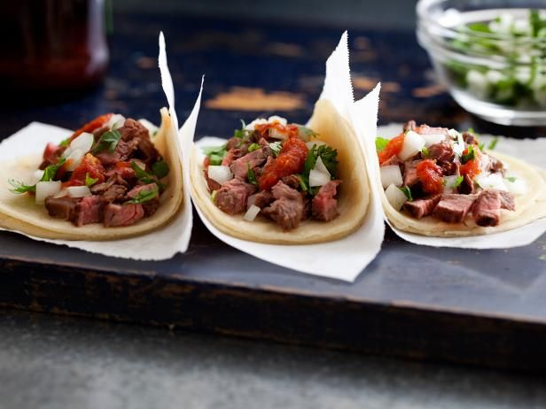 Beef Tacos: Tacos de Carne Asada : Recipes : Cooking Channel Recipe | Cooking Channel