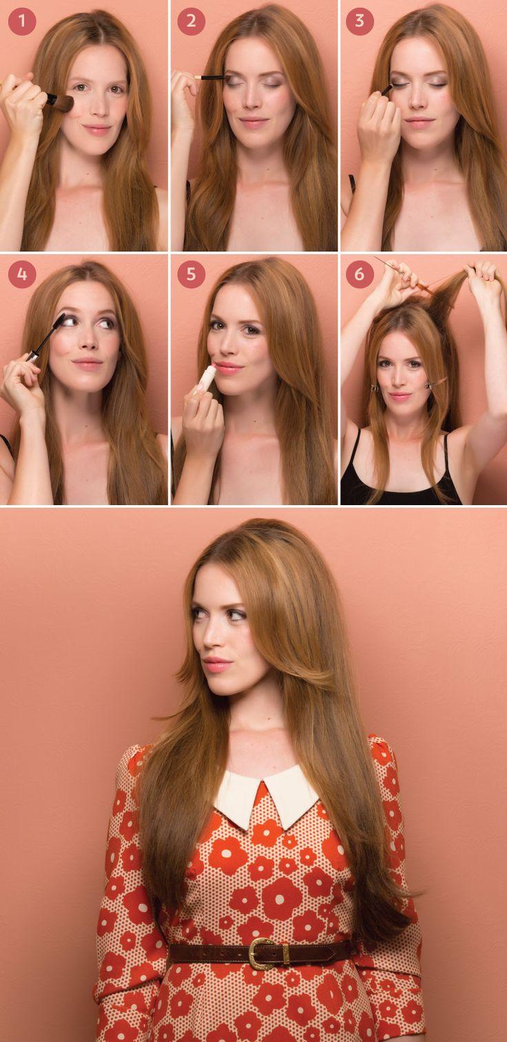 1960s makeup and hair tutorial - mugeek vidalondon