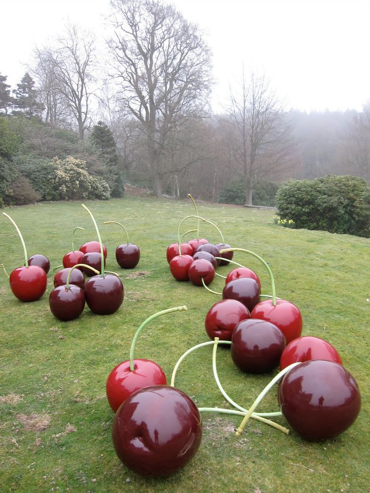 Giant cherries on set with Tim Walker for Albion, 2009. Photo by art department assistant Linnea Apvelquist