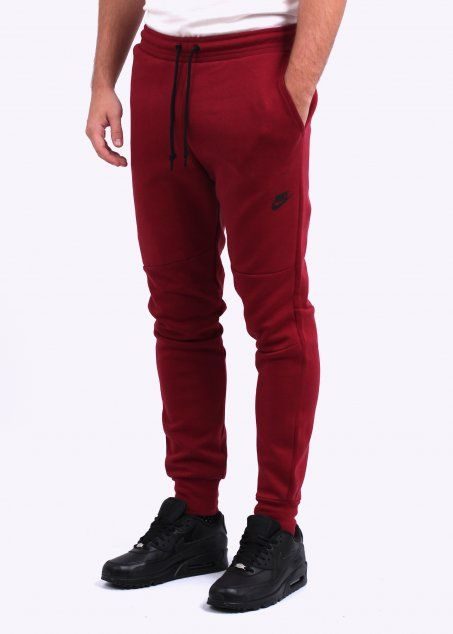 Red Nike Tech Fleece Pants February 2017