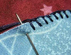 How to blanket stich an applique