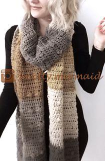 Central Park scarf pattern | Caron Cakes yarn