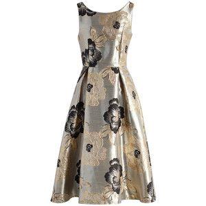 Chicwish Magnificent Peony Jacquard Prom Dress