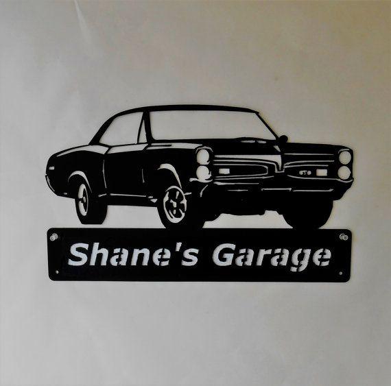 1967 Pontiac GTO chèvre personnalisé homme des cavernes signe