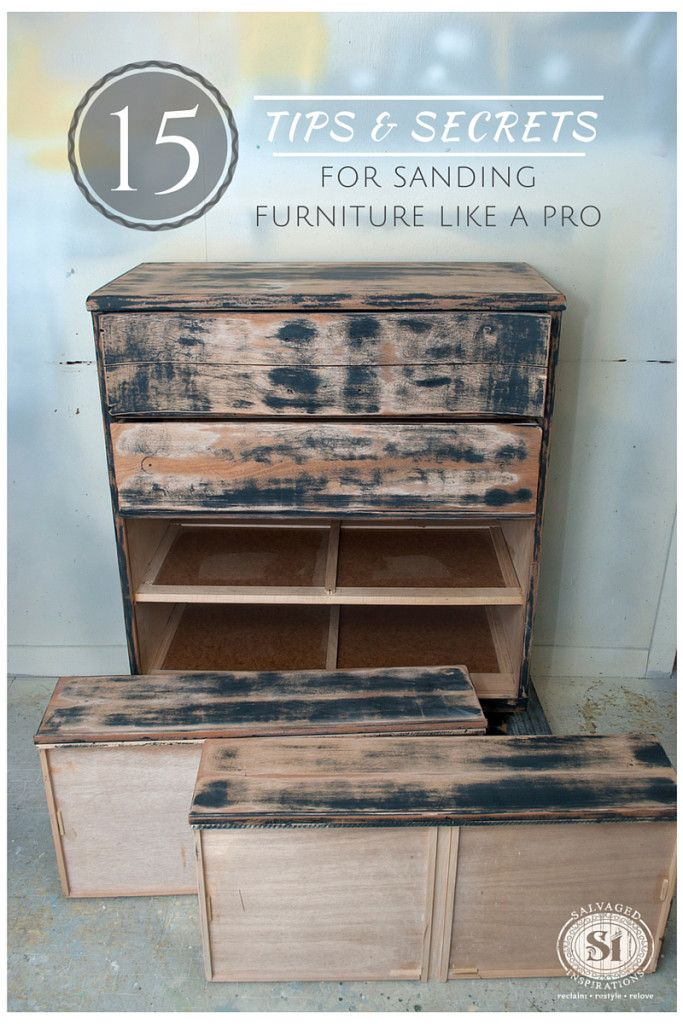 15 Tips&Secrets For Sanding Furniture Like A Pro