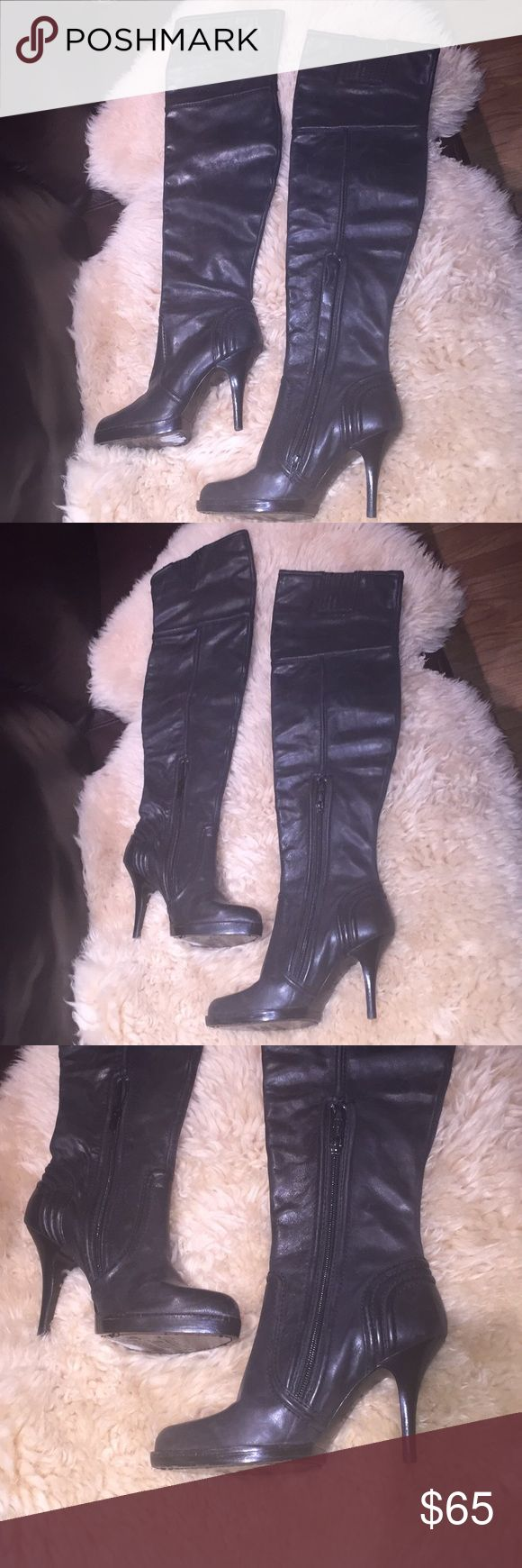 """Juicy Couture Boots - Size 6M New! Without tag.genuine leather. 3""""high heels. Calves 12"""". Length 12"""". Above the knee. Excellent condition! Juicy Couture Shoes Over the Knee Boots"""