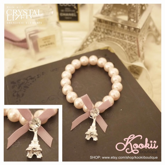 eifflel tower bracelet favor