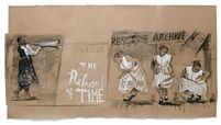 """Drawing for """"The Refusal of Time"""" (La Negation du temps) Prologue by William Kentridge"""
