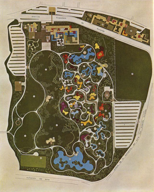 Roberto Burle Marx, Parque del Este´s plan, 1958, gouache