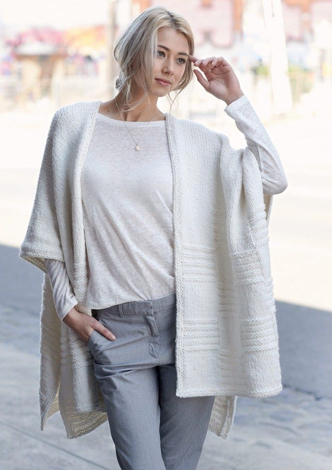 Poncho Vest Knitting Pattern : Best capes and ponchos images on pinterest other
