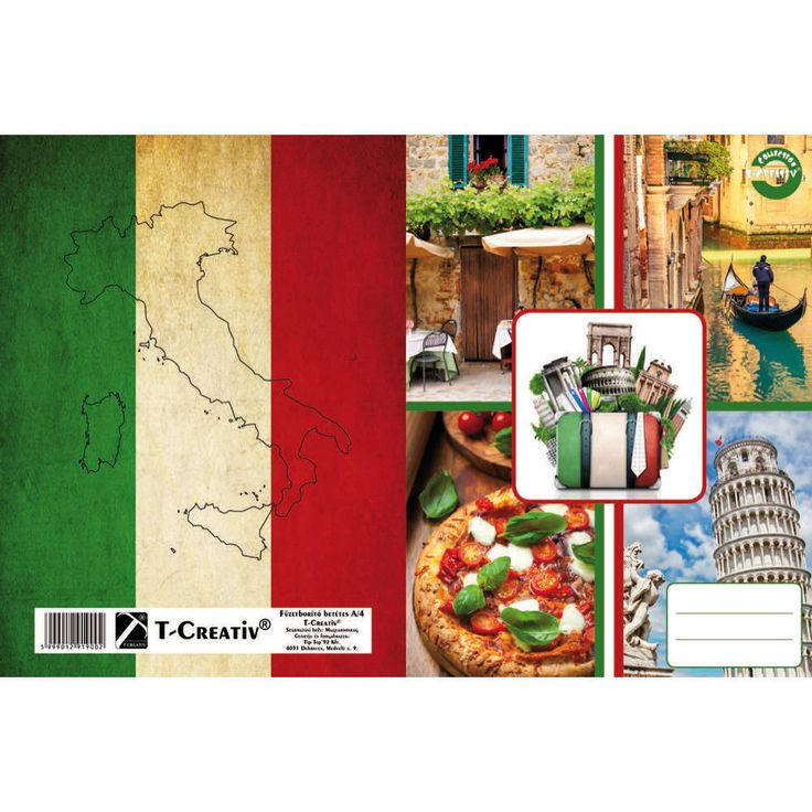 Füzetborító betétes T-Creativ A/4, Countries (Olaszország)
