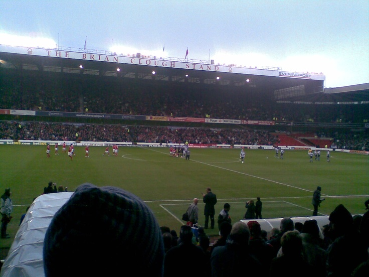 Nottingham Forest vs Sheffield United  It was friezing.
