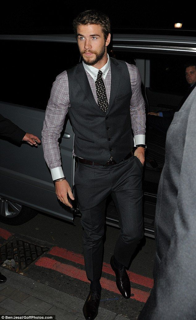 Get the party started! Liam Hemsworth arrived at One Marylebone after the film premiere of Rush in Leicester square on Sunday evening