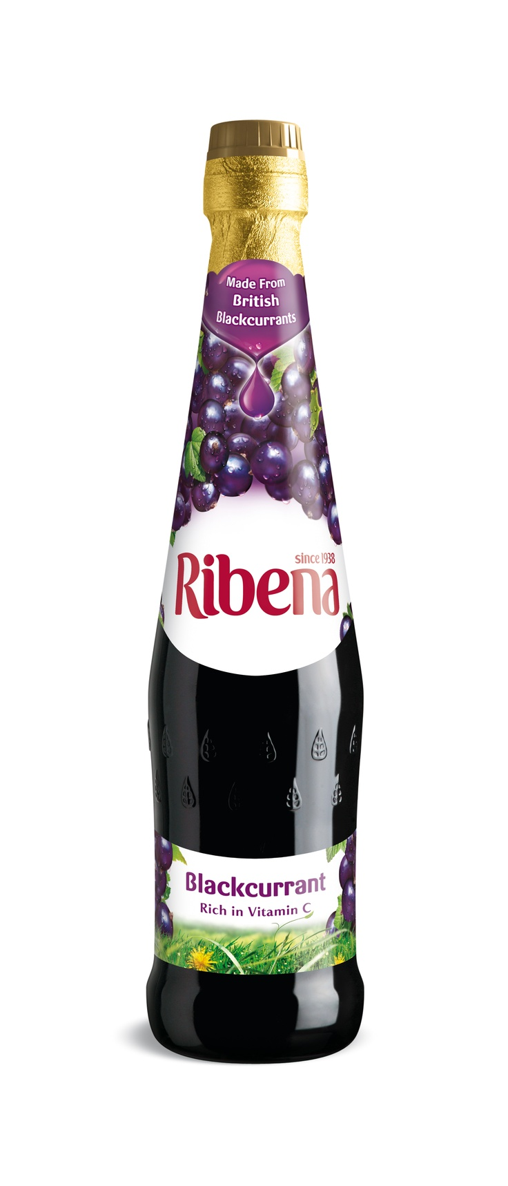 a splash of blackcurrant ribena + sparkling mineral water... YUM!
