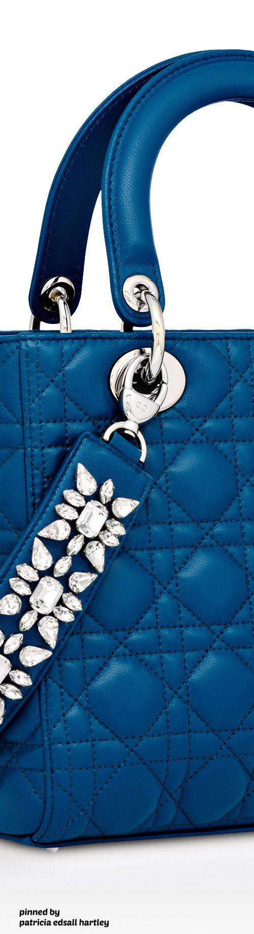 Lambskin Lady Dior Embroidered Shoulder Strap Bag