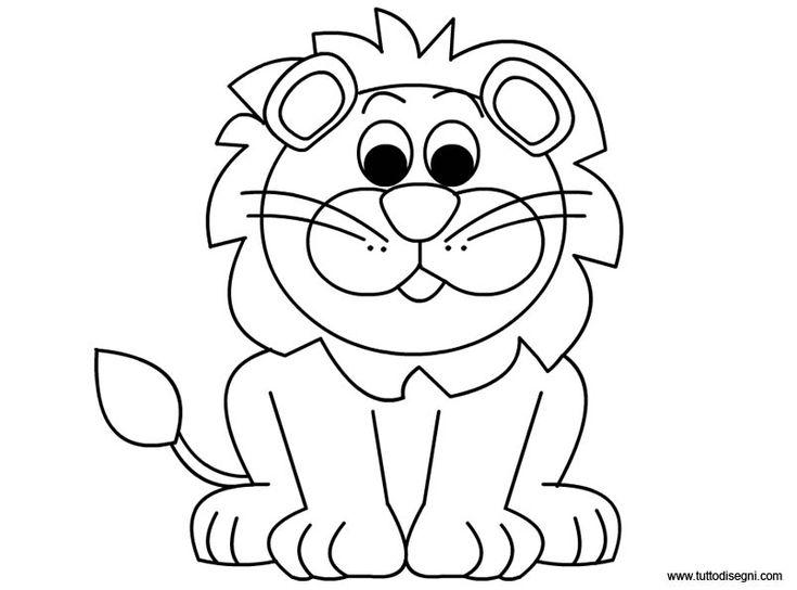 Leone: disegno da colorare - TuttoDisegni.com
