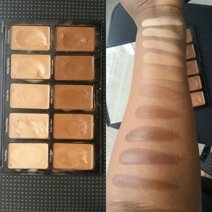 Sacha Cosmetics Kamaflauge foundation Palette for Brown Girls.Medium to full coverage,conceal,highlight and contour.All in one palette