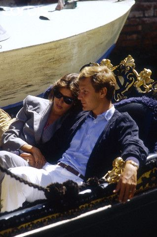 Princess Caroline and Stefano Casiraghi in Italy. Beautiful couple <3