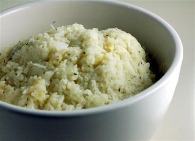 Garlic and Tahini mashed cauliflower